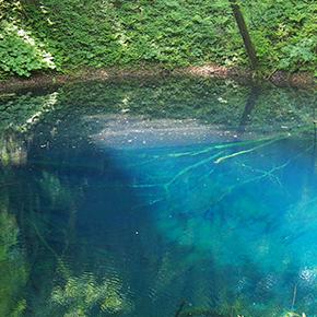 リゾートしらかみでGO! <後編>十二湖「青池」の神秘のブルーにうっとり
