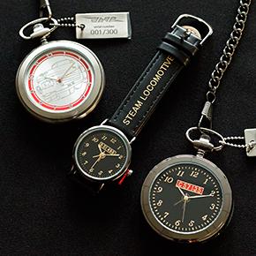 数量限定!「C57 135」「クハ181-45」モチーフの懐中時計&カジュアル派におすすめ「D51 498」腕時計